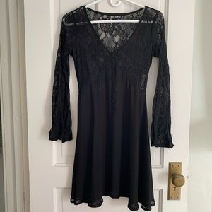 Hot Topic Black Lace Sheer Dress